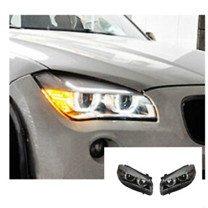 For BMW X1 LED Headlights LED DRL 2013-2015 Replace OEM Halogen Sequential