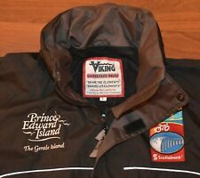 RARE PEI Spring Jacket Bicycle Tour Canada Flag Confederation Bridge Embroidery