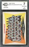 1960 topps #208 CHICAGO WHITE SOX team card BGS BCCG 7