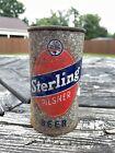 Sterling Pilsner Beer 12 oz. 1950 OI flat top beer can from Evansville, Indiana