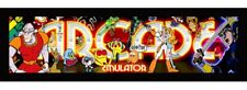 """Arcade Marquee Print on Back lit Film up to 30"""" by 12"""" Choose or Design"""