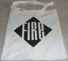 Fire Records Logo Cotton Tote Bag Long Handles Pulp Brit Pop Music Vinyl Records