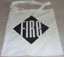 Fire Records Logo Cotton Tote Bag Long Handles Pulp Brit Pop Music Vinyl Records