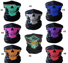 UNISEX HALF FACE SKULL BIKER BICYCLE MOTORBIKE QUAD BIKE SNOOD NECKWARMER SCARF