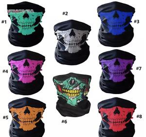 Half face skull mask plain mask face mask biker bicycle motorbike snood scarf