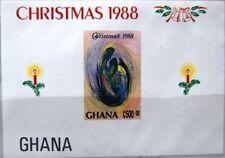 GHANA 1988 Block 132 U S/S 1073 IMPERF Christmas Weihnachten Religion MNH
