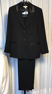 Amanda Smith Womens Suit Black Tuxedo Style Sz 12 pre-owned