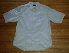 1486c XXL Solid Lt Gray Pink Stitching SEAN JOHN S/S Snap-up Club Shirt!