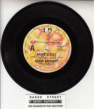 "GERRY RAFFERTY  Baker Street  St 7"" 45 rpm vinyl record + juke box title strip"