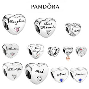 PANDORA MOMENTS CHARMS DAUGHTER WIFE DAD MUM GRANDDAUGHTER AUNTIE NAN FRIEND SON
