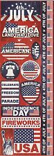 """Reminisce 4th of july Collection """"DIE CUT STICKERS"""""""