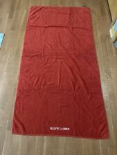 Ralph Lauren Crimson Orange Large Bath Beach Towel Embroidered 100% Cotton Made
