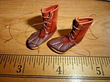 HANDCRAFTED  LEATHER WORK  BOOTS -  - DOLL HOUSE MINIATURE