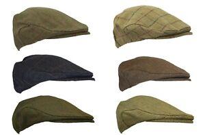 Walker and Hawkes Derby Tweed Flat Cap Shooting Hunting Country Teflon Hat