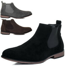 Mens Suede Style Chelsea Boots Designer Smart Casual Desert Dealer Ankle Shoes