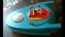 VINTAGE SPACE SHIP UNIVERSE UTOPIAN CAR TIN TOY BATT. OPERATED USSR SOVIET ERA