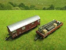 Märklin Z Miniclub Niederbordwagen bld. + ged. Güterwagen (JY) M0767