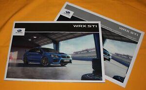 Subaru WRX STI 2017 Prospekt Brochure Depliant Folder Catalog Folder Prospetto