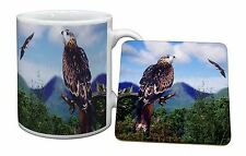 Red Kite Bird of Prey Mug+Coaster Christmas/Birthday Gift Idea, AB-105MC