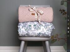 Cot Blanket baby toddler newborn playmat 100% cotton Garbo & Friends Mares light