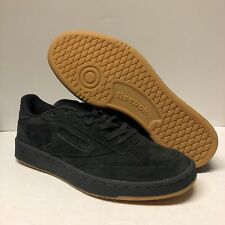 601cec841a17 Authentic Men s Reebok Club C 85 Size 8.5 Black Suede Gum Bottom New w  No