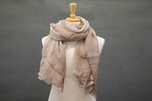NWT Brunello Cucinelli Linen-Silk Gradual 3-Tone Ombré Scarf One Size  A211