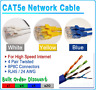 Cat5e Patch Cord Network RJ45 ETHERNET Cable 1ft 2ft 5ft 7ft 10ft 25ft 50ft 100