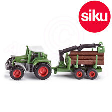 Siku No 1645 Fendt Tractor with Forestry Trailer Crane & Logs - Dicast Model