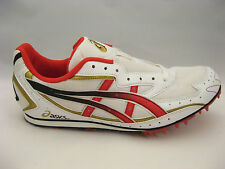 asics Track Shoes 11.5 NEW Hyperdistance GN011 Track & Field White Red Spikes