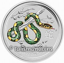 Australian 2013 Perth ANDA Coin Show Special Year of Snake $2 2 Oz Pure Silver