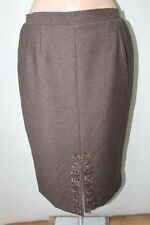 FRED SABATIER  JUPE .  44 XL  SKIRT LAINE