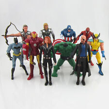 Lot 6/7/10 pcs New The Avengers DC Movie Action Figures Hulk Iron Man Wolverine