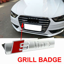 S Line Grill Emblem Badge Decal Chrome Matt OME Top Quality Alloy For Audi A3 Q7