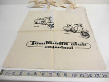 "Original Dutch ""Lambretta Club Of Holland"" Cloth Printed Bag ( Cream) Mint Order"