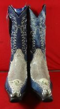 Exotic  GENUINE COBRA SNAKE  Western Cowboy Boots By EL GENERAL (C57)