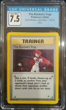 The Rocket's Trap 19/132 Gym Heroes Unlimited Holo CGC 7.5 Near Mint PokemonTCG