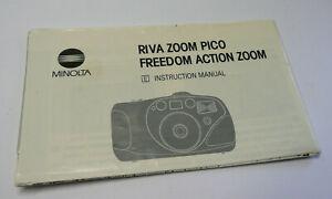 Original User Instruction Manual for Minolta Zoom Pico - Freedom Action Camera