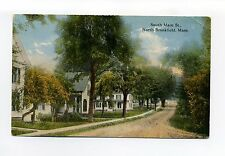 North Brookfield MA Mass South Main Street view, dirt road, homes, antique view