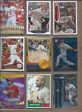 9 CARD LOT OF ALBERT PUJOLS W/INSERT NO DUPES ANGELS-CARDINALS BB14