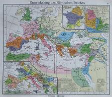 Entwickelung des Römischen Reiches - alte Karte Landkarte aus 1922 - old map