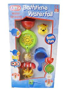 Fun Water Spraying Bathime Ship Steering Wheel Waterfall Bath Toy