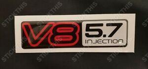 Holden HSV VN VP VR VS SS Calais Boot Badge V8 5.7 Injection Domed Decal Resin
