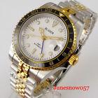 Dress Mechanical Gold GMT Men Watch Jubilee Bracelet Unidirectional Bezel