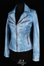 Autres vestes/blousons bleues en cuir pour femme