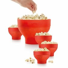 Lekue Extra-Large Popcorn Maker And 4 Bowls For Compact Storage COLLAPSIBLE
