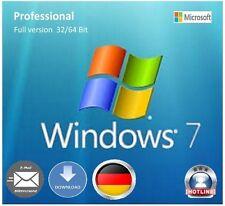 Windows 7 Professional 32/64Bit OEM KeySchlüssel Vollversion DeutschMultilingual