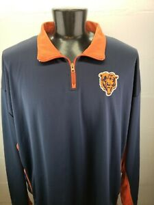 Chicago Bears NFL Soft Shell 1/4 Zip Pullover Jacket Big Man 4XL Embroidered