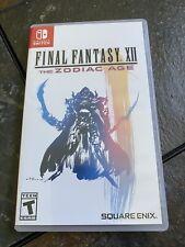 New listing Final Fantasy Xii 12 The Zodiac Age (Nintendo Switch, 2019)