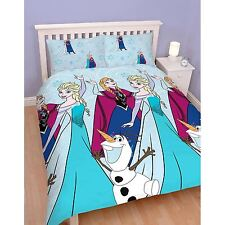 DISNEY FROZEN Lumières Set Housse de couette double 2 in 1 réversible Officiel