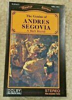 Vintage Cassette Tape The Genius of Andres Segovia A Bach Recital